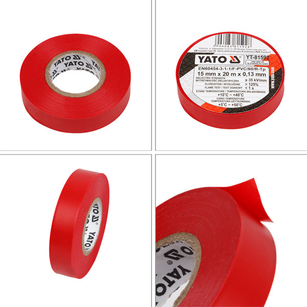 Isolierband 15 mm x 20 m rot